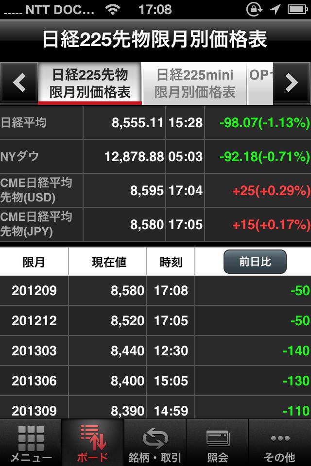 岡三ネットトレーダースマホF・iPhone版の画面2